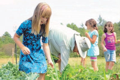 Gardening at Camp Discovery