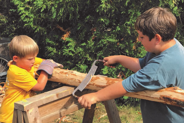 Woodworking at Camp Discovery