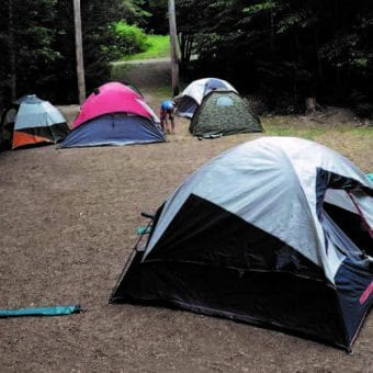 Tents at Camp Discovery Adventure Camp