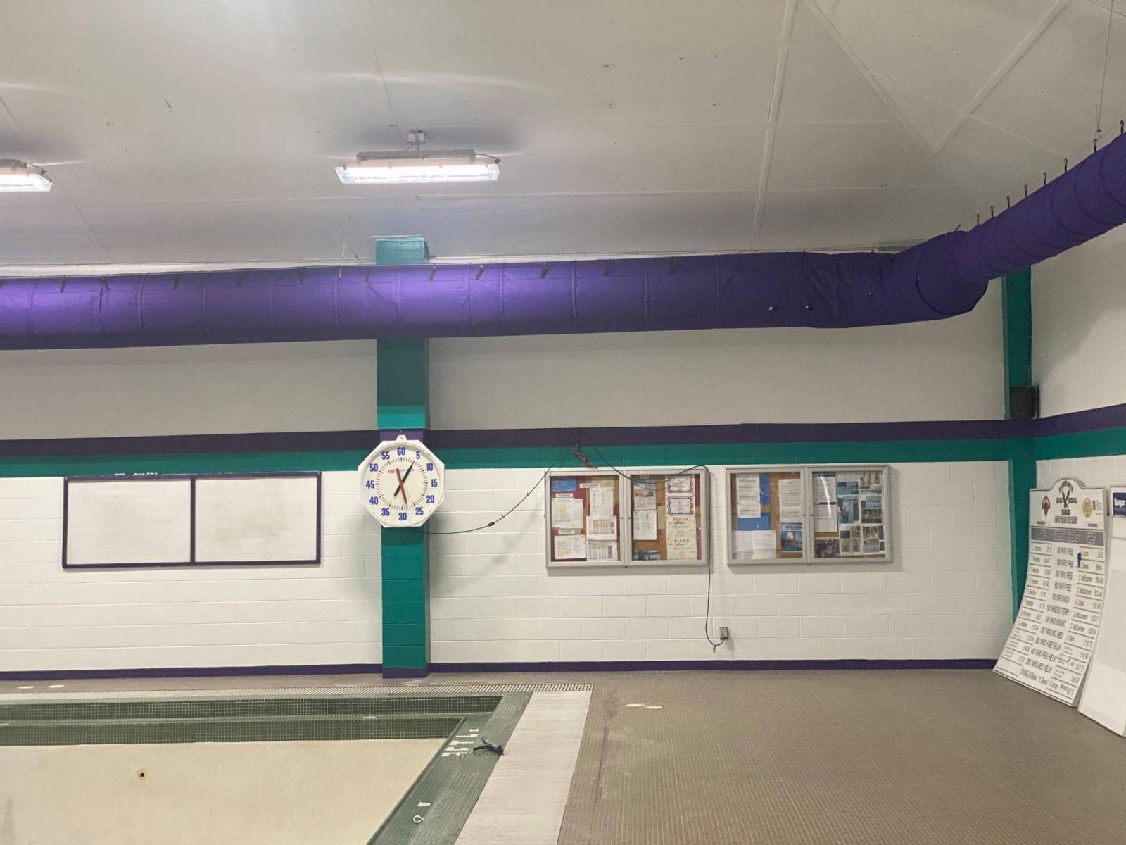 Wiggins Pool new lighting