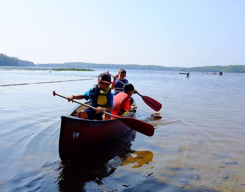 Young Bucks Camp - canoing